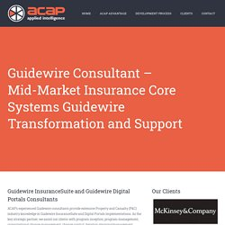 Guidewire Consultant Company - ACAP Global