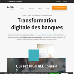 Transformation digitale des banques