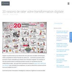 20 raisons de rater votre transformation digitale