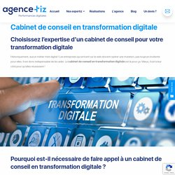 Cabinet de conseil en transformation digitale - Agence Tiz