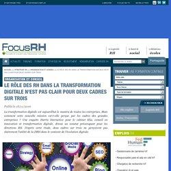 11d2016Le rôle des RH dans la transformation digitale n'est pas clair pour deux cadres sur trois - Focus RH