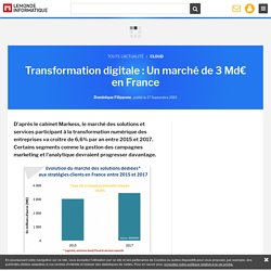 Transformation digitale : Un marché de 3 Md€ en France