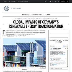 Global Impacts of Germany's Renewable Energy Transformation