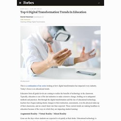 Top 6 Digital Transformation Trends In Education