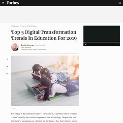 Top 5 Digital Transformation Trends In Education For 2019