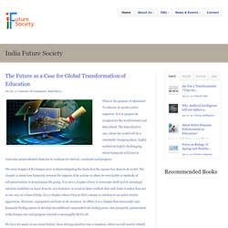 India Future Society | The Future as a Case for Global Transformation of Education