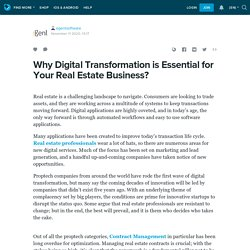 Why Digital Transformation is Essential for Your Real Estate Business?: egentsoftware — LiveJournal