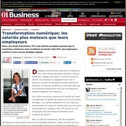 Transformation numérique: les salariés plus moteurs que leurs employeurs