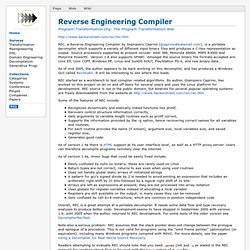 Reverse Engineering Compiler