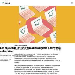 Les enjeux de la transformation digitale pour votre entreprise