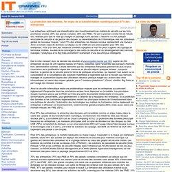 La protection des données, 1er enjeu de la transformation numérique pour 87% des entreprises