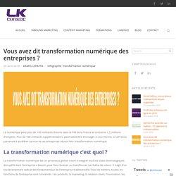 Vous avez dit transformation numérique des entreprises ?