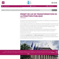 CNFPT-SUIVI Projet de loi de transformation de la fonction publique