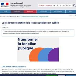 La loi de transformation de la fonction publique est publiée