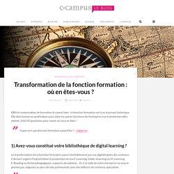 Transformation de la fonction formation : où en êtes-vous ? – Le blog de C-Campus
