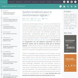 Quelles tendances pour la transformation digitale ?