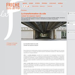 La transformation du site
