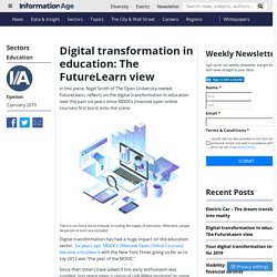 Digital transformation in education: The FutureLearn view