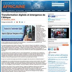 Transformation digitale et émergence de l'Afrique