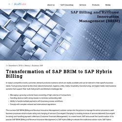 Transformation of SAP BRIM to SAP Hybris Billing - Acuiti Labs