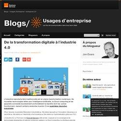 De la transformation digitale à l'industrie 4.0