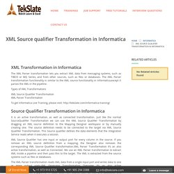 XML Source Qualifier Transformation in Informatica