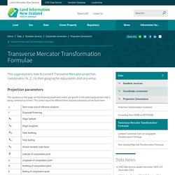 Transverse Mercator Transformation Formulae