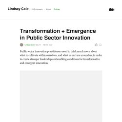 Transformation + Emergence in Public Sector Innovation