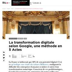 La transformation digitale selon Google, une méthode en 5 Actes