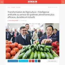 LACTUACHO 01/03/20 Transformation de l'Agriculture : l'intelligence artificielle au service de systèmes alimentaires plus efficaces, durables et inclusifs