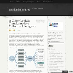 A Closer Look at Transformation: Collective Intelligence | Frank Diana's Blog