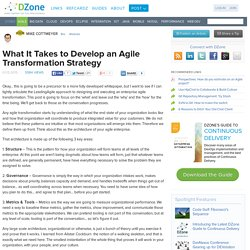 What It Takes to Develop an Agile Transformation Strategy