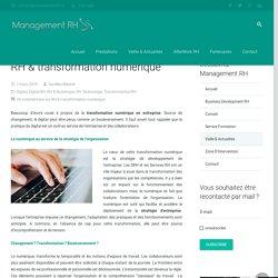 RH & transformation numérique - Management RH