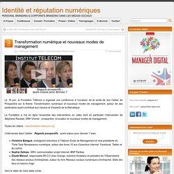 Transformation numérique et nouveaux modes de management