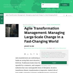 Agile Transformation Management: Managing Large-Scale Change in a Fast-Changing World