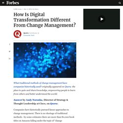 How Is Digital Transformation Different From Change Management?