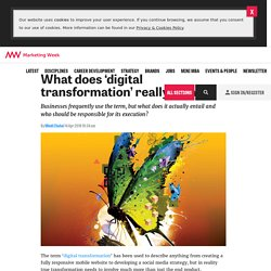 What does 'digital transformation' really mean?