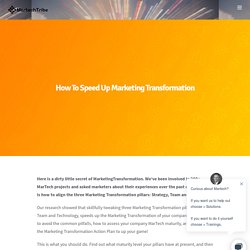 How To Speed Up Marketing Transformation - MartechTribe