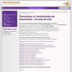 Transmission et transformation de mouvements : les yeux du chat - MathéSciences31