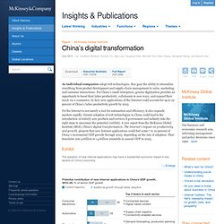China's digital transformation