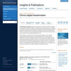 China's digital transformation