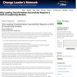 Why Leading Transformation Successfully Requires a Shift of Leadership Mindset - Change Leader's NetworkChange Leader's Network