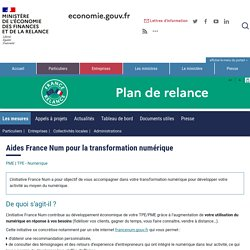 Aides France Num pour la transformation numérique