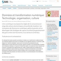 Données et transformation numérique : technologie, organisation, culture