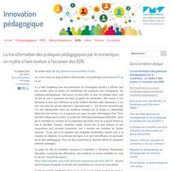 La transformation des pratiques pédagogiques par le numérique : un mythe à faire évoluer à l'occasion des EGN.