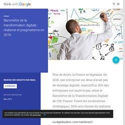 Baromètre de la transformation digitale : réalisme et pragmatisme en 2016