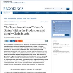 The Transformation of Taiwan's Status Within the Production and Supply Chain in Asia