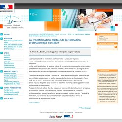 La transformation digitale de la formation professionnelle continue
