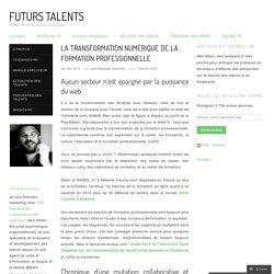 La transformation numérique de la formation professionnelle