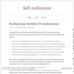 Reading Jung: Symbols of Transformation – Self-realization
